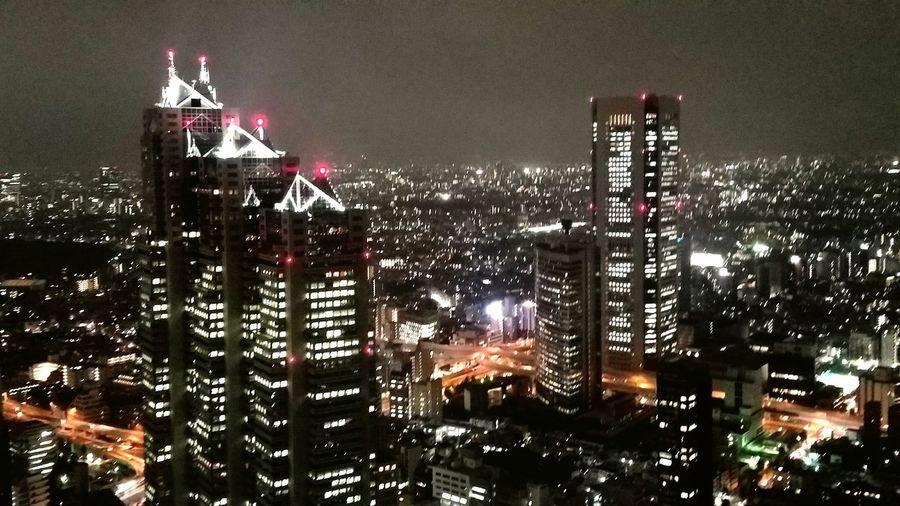 Building Building Photography Building Photo 夜景 Night View Japan Shinjuku City Illuminated Office Building 東京の景色 Tokyo
