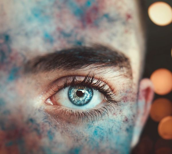 Eyes are the window to the soul Bokeh Lights EyeEmNewHere Sensory Perception Portrait Eyesight Eyeball Human Face Young Adult Eyelash Eyebrow Blue Eyes Real People Iris - Eye Eyelid Capture Tomorrow Looking At Camera Human Eye Eye Close-up Adult The Portraitist - 2019 EyeEm Awards The Mobile Photographer - 2019 EyeEm Awards