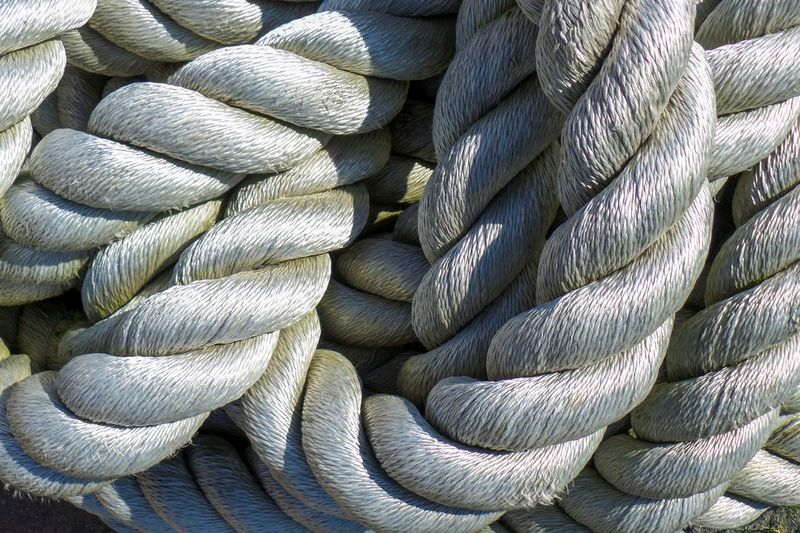 Full frame shot of spiral ropes