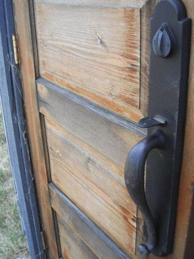 Stonehenge, Saskatchewan Country Country Church Door Weathered Wood