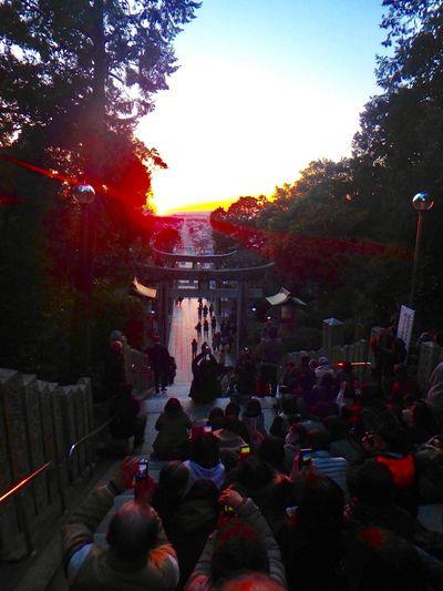 Fukuoka InJapan ARASHI Cm Hikari_no_michi Miyajidake Shrine ⛩ Sunset Very Beautiful Sky ♡ The City Light