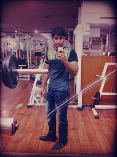 Working out at gym Working Out