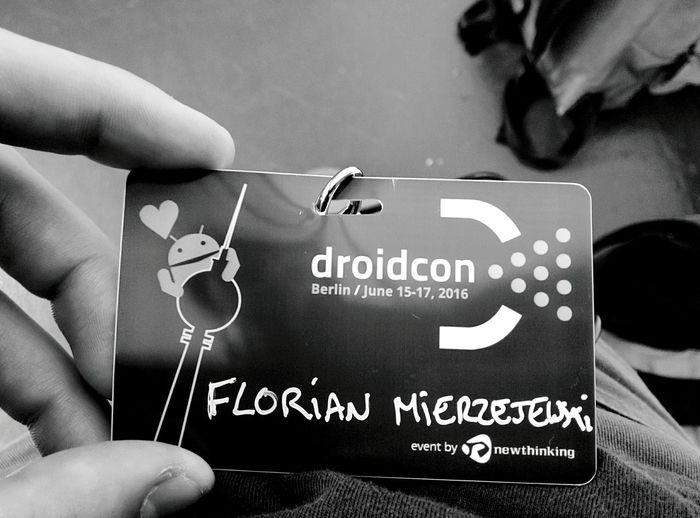 Day 354 - Droidcon Berlin Berlin Blackandwhite Droidcon Conference Badge 365project 365florianmski Day354
