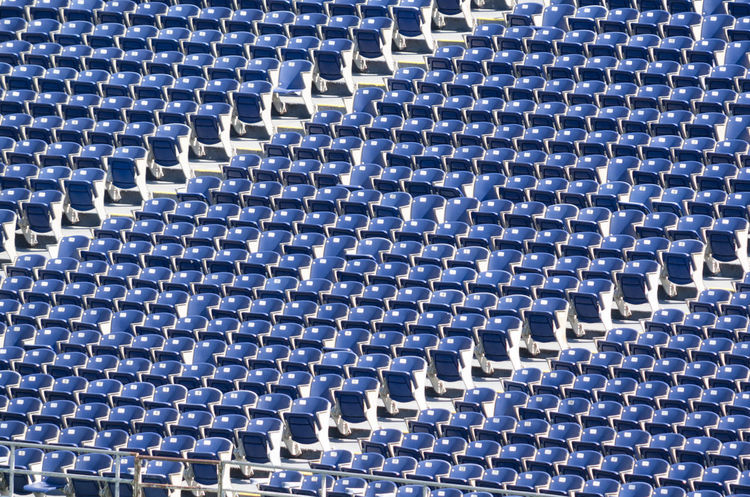 The color of sports - blue Backgrounds Blue Creativity Full Frame Geometric Shape No People Pattern Repetition Stadium Stadium Architecture Stadium Atmosphere Stadium Seating Textured  The Color Of Sport The Color Of Sport By September 14 2016