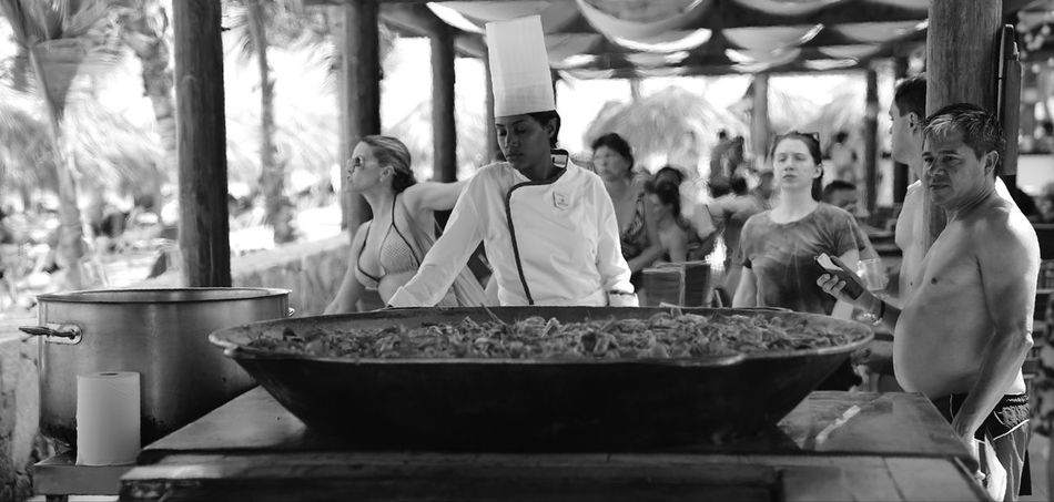 waiting to be served Chef Patron Food Eating Religion Spirituality Place Of Worship Women Men Indoors  Adult Day People Adults Only