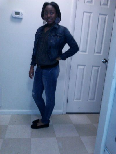 Timberland sweater, Old Navy Jean jacket, No Call moccasins, && almost famous jeans