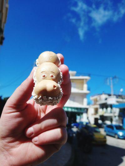 Good morning 😄😄😄 Happy Hippo Human Hand Human Finger Blue Sky