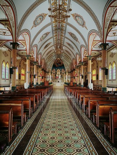 Indoors  Architecture Built Structure Symmetry Day No People Church Architecture Church Interior The Secret Spaces