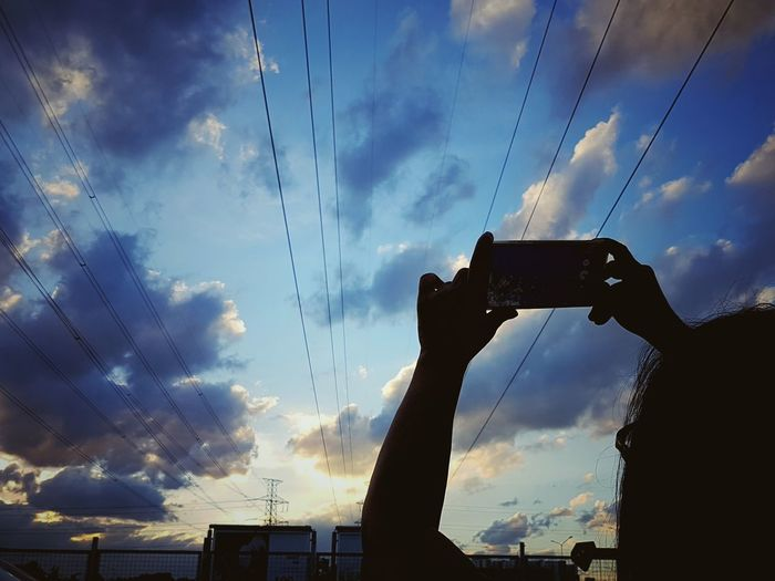 Clouds And Sky Clouds Cloudporn Cloudscape Cloud And Sky Cloud Porn Evening Sky Sunset_collection Sunsets First Eyeem Photo Sky And Clouds Skyporn Bangkok Thailand Golden Moment 45 Golden Moments Sunset Silhouettes Taking Photos Taking Pictures Taking Photos Of People Taking Photos