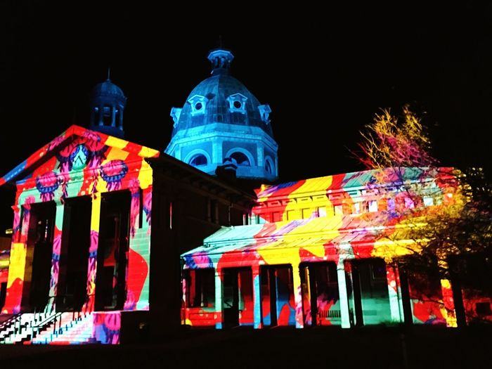 Ocean colour School Holidays Artistic Events NSW Austrlia Illuminated Buildings Artistic Arts Culture And Entertainment Bright Colors Old Architecture Australian Photographers Architecture_collection Night_collection Old Meets New Activities With Kids Night Lights Projection Illuminated Christmas In July Bathurst Winterfest Jellyfish Night Architecture Building Exterior Built Structure Illuminated Celebration Multi Colored Low Angle View Travel Destinations Decoration Building