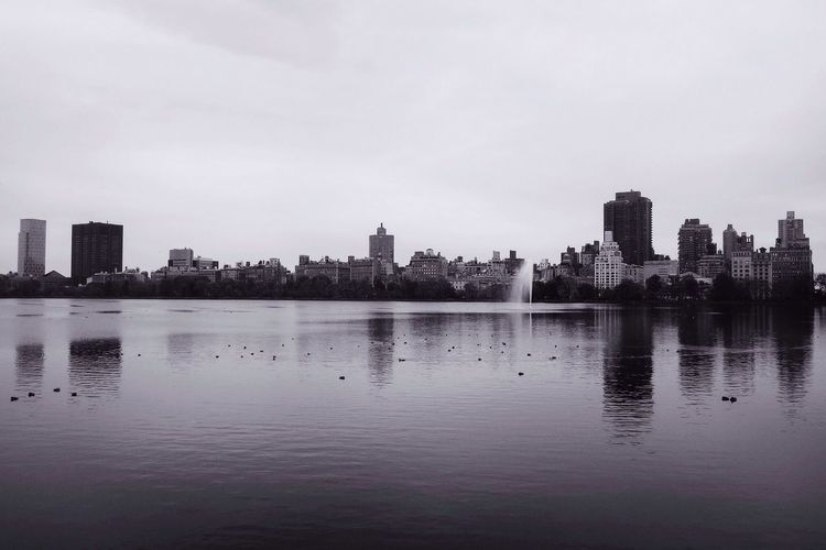 Longing for New York. New York NYC Enjoying The View Architecture Water Reflections Blackandwhite
