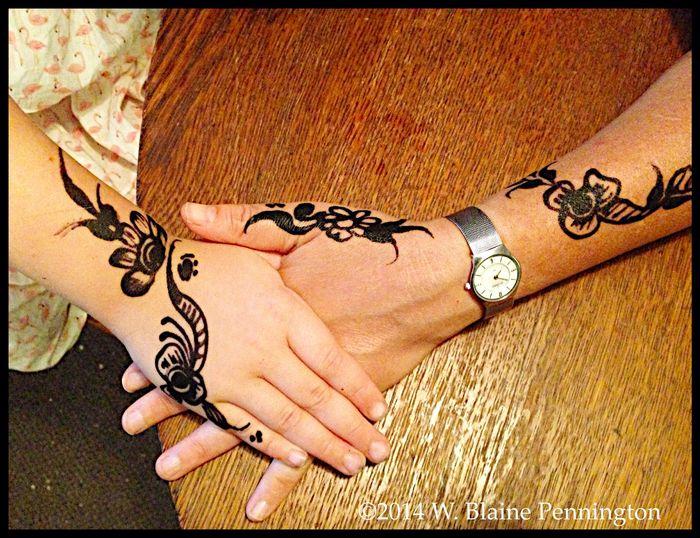 Jessie & Jane got Henna painted at the Smithsonian Folk Life Festival today. Henna Smithsonian Folk Life Festival Washington, D. C.