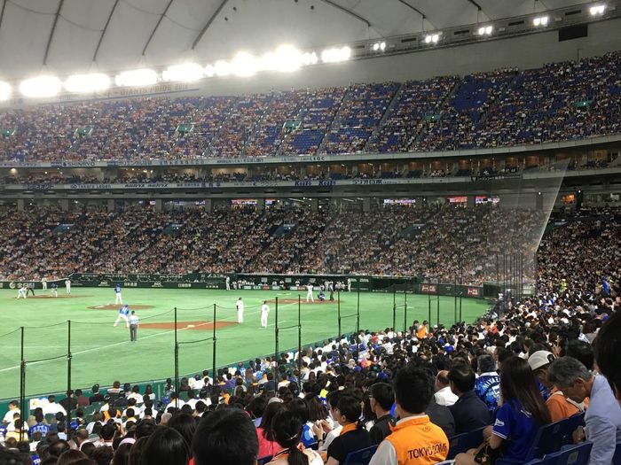 Baseball - Giants vs Yokohama Travel Photography Travel Destinations Baseball Tokyo Japan Photography Japan Crowd Large Group Of People Group Of People Sport Stadium Real People Spectator Arts Culture And Entertainment Watching Match - Sport Competition Team Sport Fan - Enthusiast Leisure Activity Audience