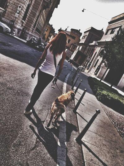 Street Life Steph Filter Enjoying The Sun Woman & Dog