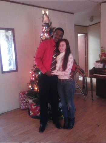 My Baby And I On Christmas Morning <3