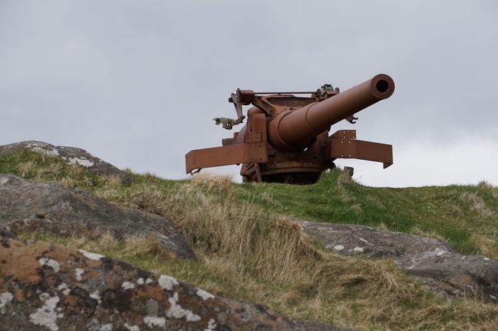 Artillery Cannon Cloud - Sky Day Faroe Islands Grass Grassy Landscape Outdoors Sky Tranquil Scene Tórshavn War