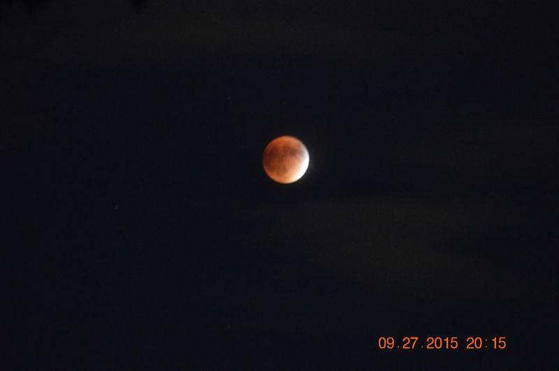 Blood moon lunar eclipse Grantsville, Utah, USA