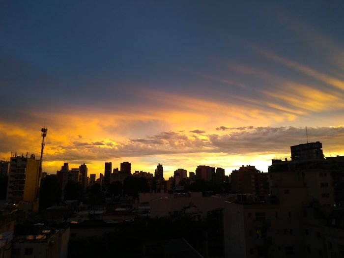 Atardece City Cityscape Sunset Urban Skyline Roof Sky Architecture Cloud - Sky Building Exterior