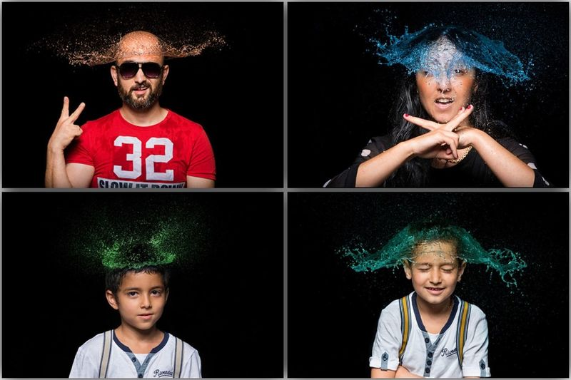Water Wigs Portrait People Photography Cheese!