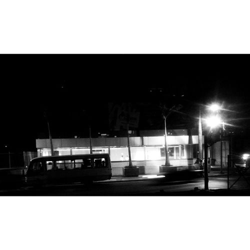 Metro station. Night Lights Bw Streetphoto