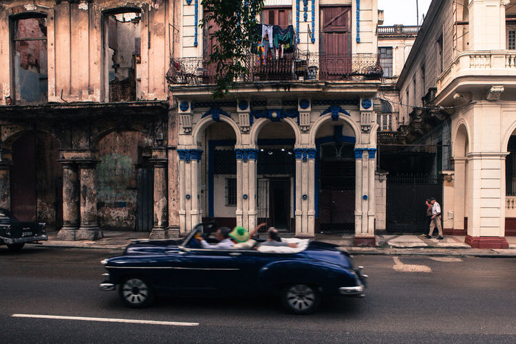 Vintage classic american car parked in a street of old Havana American Cars Arch Car City Street Cuba Cuban Destination Havana Holiday Land Vehicle Mode Of Transport Old Cars Old Times Old-fashioned Oldsmobile Style Life Tourism Transportation Travel Travel Destinations Typical Vehicle Vintage Vintage Cars