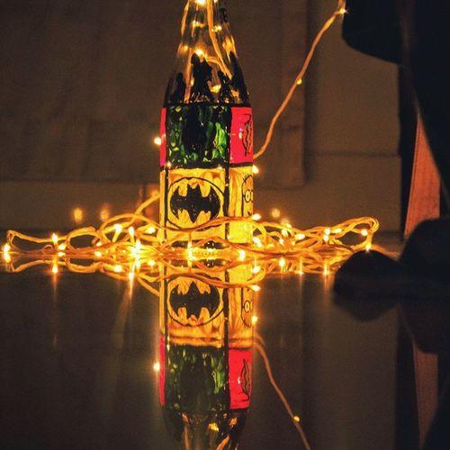 HAPPY DIWALI Festival of Light Batman Dark Knight  Green LED Happydiwali Yellow Beautiful DIY Lamp Hostel Insta Celebrations India Mitmanipal Manipal Sparkling Life Creativity Multicolour Canon Diwali