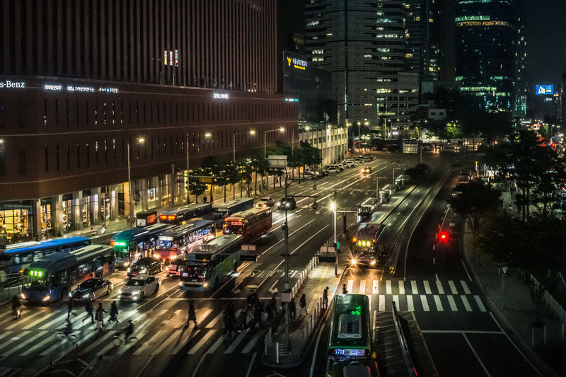 Nightphotography RX1 City Cityscape Illuminated Road Rush Hour Land Vehicle Car City Life High Angle View Street Vehicle Light