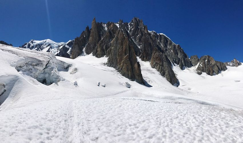 Pilastri del Monte Bianco Snow Winter Cold Temperature Nature Beauty In Nature Outdoors Blue Day Mountain Scenics No People Sky Clear Sky Montblanc