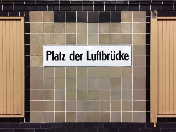 Tile No People Close-up Day Architecture Outdoors Berlin Berliner Ansichten Ubahn Berlin Ubahn City Underground Underground Station  Platz Der Luftbrücke Subway Station Subway