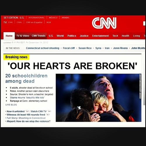 'Our Hearts Are Broken' - Prayers For Newtown CT. Tragedy Sadness Connecticut Violence Newtown Innocent Victims ImSorry Ct Newtownct Newtownelementary Horrific Condolences Sandyhook