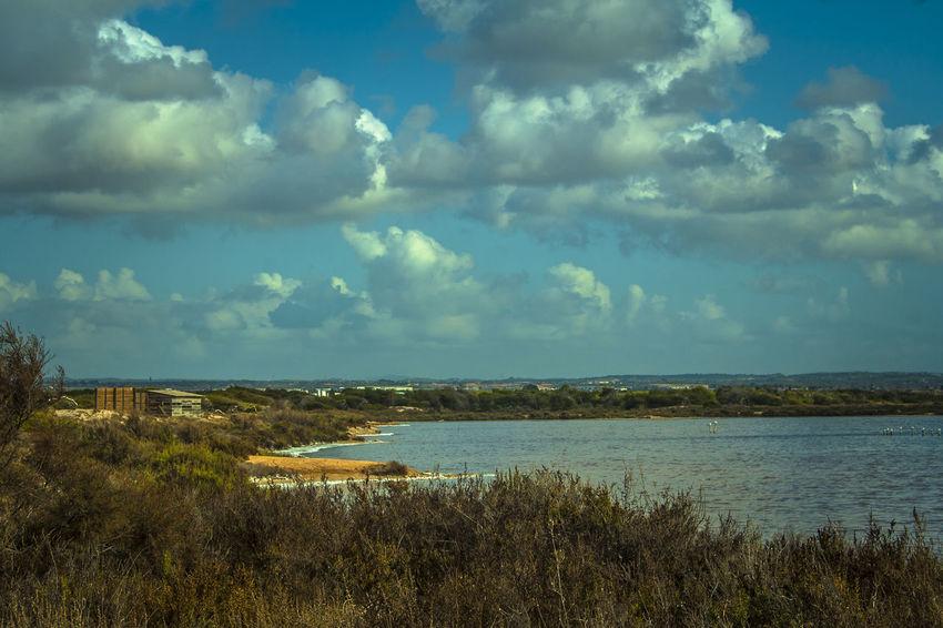 Beauty In Nature Blue Lo Pagan Murcia Provincia Nature Salinas Salinas De San Pedro Del Pinatar Sea Sky Tranquil Scene Water