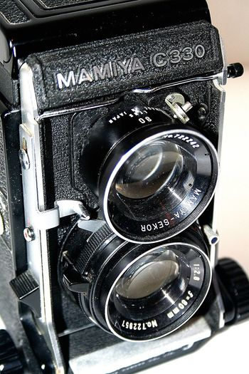 Black Color Close-up Day Indoors  No People Old-fashioned Technology Twin Lens Reflex Vintage Camera