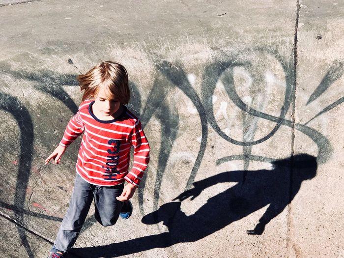 Boy with shadow