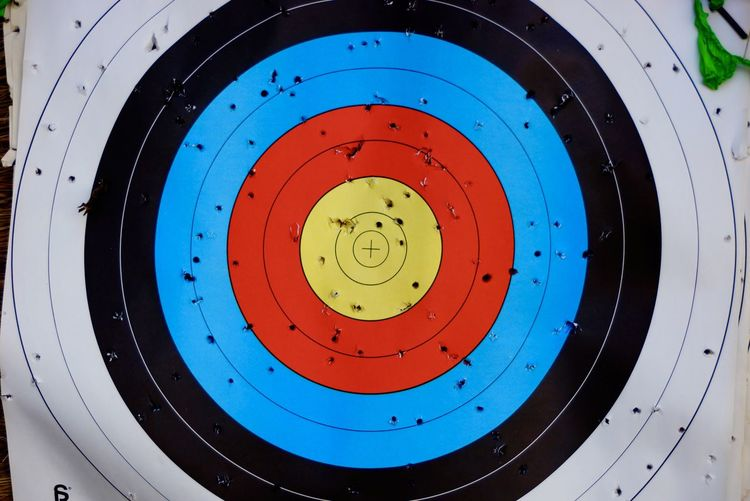 Archery Architectural Design Arrow Ceiling Circle Close-up Colorful Electric Light Full Frame Geometric Shape Green Color Illuminated Lighting Equipment Lit Low Angle View Multi Colored No People Round Sports The Color Of Sport Vibrant Color