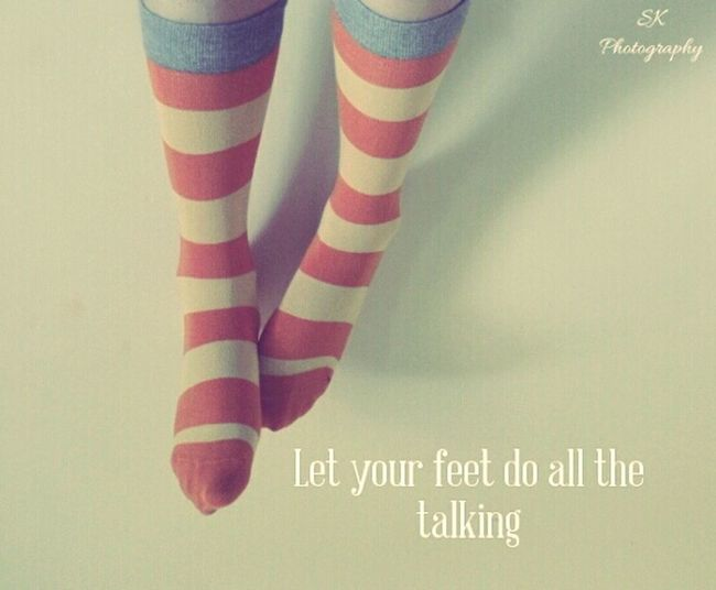 happy feet Taking Photos Photography Indoors  Relaxing Happy Imagination Retro Photography With A Message Sock Feet