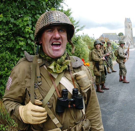 Reenactment Paratroopers Airborne All The Way 101st Airborne Division 82nd Airborne Division Normandie Dday