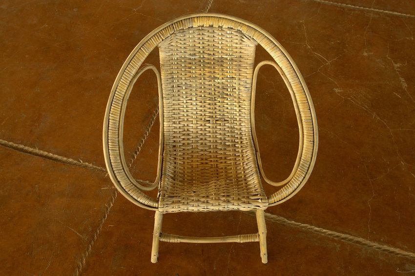Chair Close-up Day Daylight Indoors  No People Rattan Chair Relaxation
