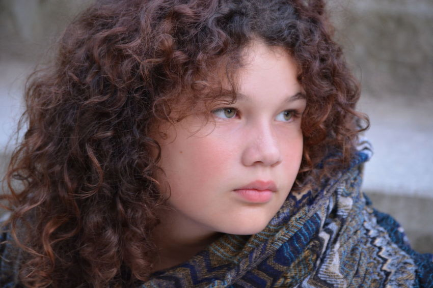 Curly Hair Serious Sadness Portrait Brown Hair Headshot Beautiful People Looking At Camera One Person Beauty Adult Depression - Sadness Groningen Beautiful Woman Long Hair Cold Temperature People Teenager Winter Outdoors Human Face