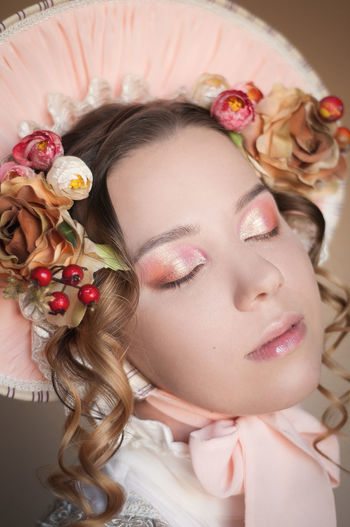 Nofilter No Filter Pink Pink Color Doll Cute Flower Beautiful Woman Portrait Young Women Beauty Beautiful People Human Face Studio Shot Pampering Females Rose - Flower Coral Colored Blooming Flower Head