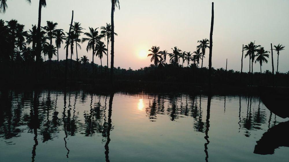 Backwaters Sunset Natural Beauty Kerala India Relaxing