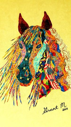 Horses American Patterns Unique Horse Patterns USA Patterns Art