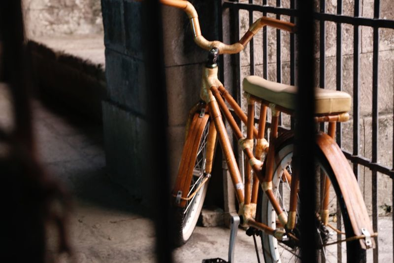 Bicycle by railing