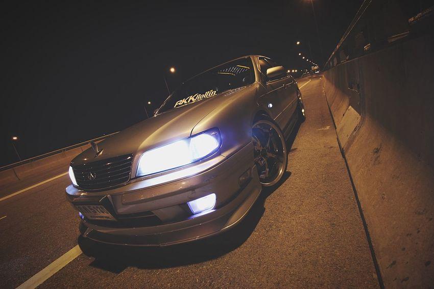 Welcome back my front lips. Nissan Infiniti I30 BKKRollin Night Express Way Car Automotive Photography Automobile Bangkok
