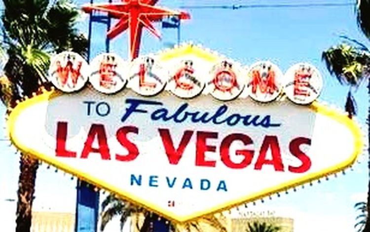 Sign Las Vegas NV Text Outdoors Day Blue No People City Sky