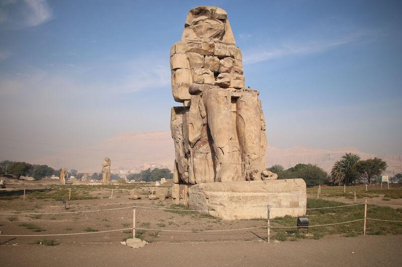 The Colossi of Memnon Egypt God Gods Godsofegypt Monument Monument Valley Pharaoh Pharaohs The Colossi Of Memnon
