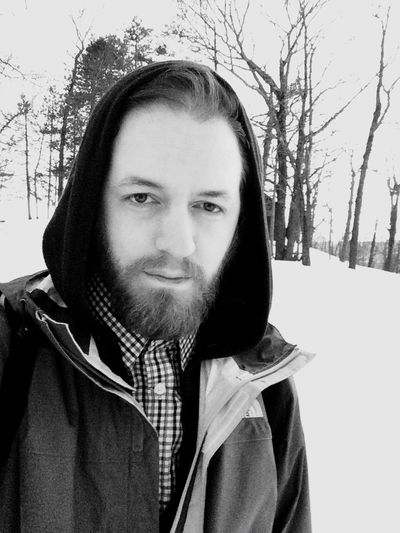 Self Portrait Taking Photos IPhoneography On A Hike Selfie Snow Winter Style Face Hair