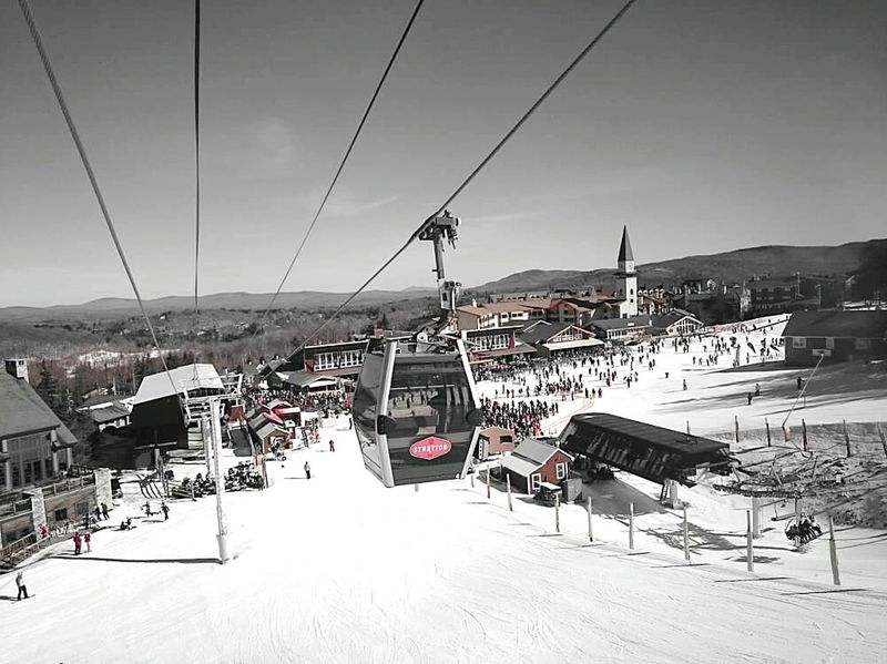 Strattonmountain  Vermont Skiing Ski Slopes Color Filter Gondola Ski Lift The Great Outdoors - 2016 EyeEm Awards The Great Outdoors With Adobe Mountain Snow Snowboarding
