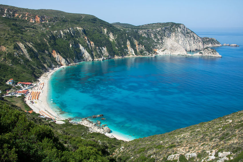 Petani beach, island Cephalonia (Kefalonia), Greece Pebble Beach Travel Vacations Bay Beach Beauty Blue Blue Sky Cephalonia Coastline Greece Ionian Ionian Sea Island Kefalonia Landscape Nature No People Scenics - Nature Sea Summer Sunbathing Swim Tourism Water