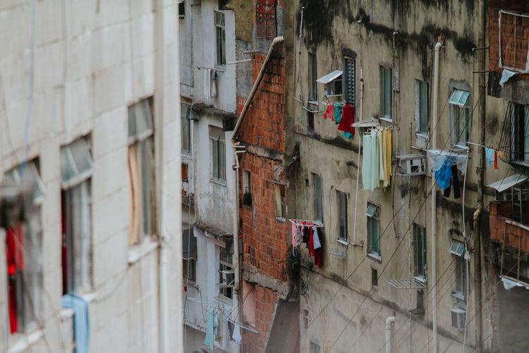 Dense living conditions in the rocinha favela, rio de janeiro, brazil
