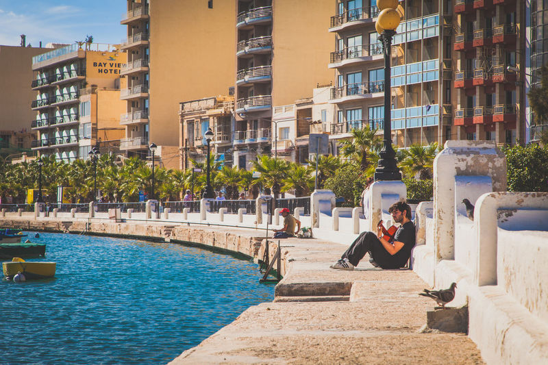 Best place to play the guitar in the world. Built Structure Canonphotography City City Life Cityscapes Creative Creativity Guitar Island Islandlife Malta Mediterranean  Music Musician Musicians Outdoor Photography Seaside Singer  Street Music Street Musicians Water Waterfront